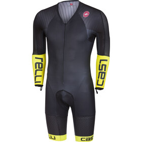 Castelli Body Paint 3.3 Speed Combinaison manches longues Homme, black/yellow fluo